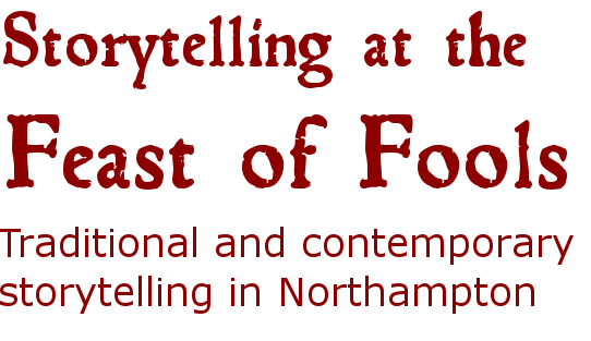 storytelling at the feast of fools logo